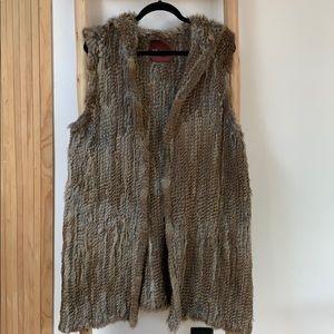 525 America rabbit fur vest